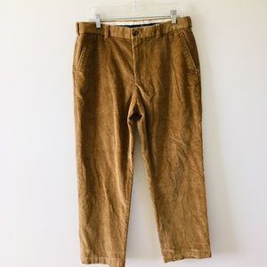 Brooks Brothers Brown Clark Fit Corduroy Pants